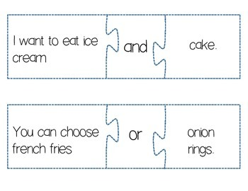 Conjunction puzzles (center game)