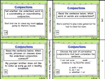 Conjunction Task Cards L.5.1.a