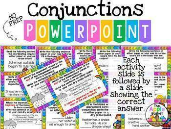 Conjunctions No Prep PowerPoint