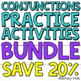 Conjunctions BUNDLE:  Worksheets, Task Cards, Boom Cards,