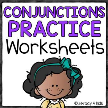 Conjunctions Task Cards and No Prep Printables
