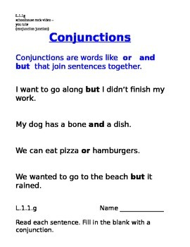 Conjunctions 1.L.l.g