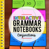Grammar, Parts of Speech, Conjunctions Interactive Notebook