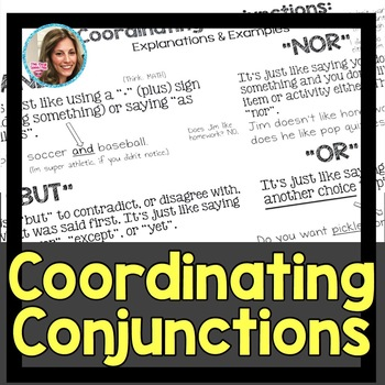 Coordinating Conjunctions | Speech and Language Therapy by The Pedi ...