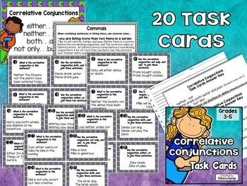 Conjunctions Task Cards $$$ Savings BUNDLE
