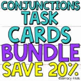 Conjunctions Task Cards $$$ Savings BUNDLE for Grades 3-5