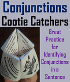 Conjunctions Activity 2nd, 3rd, 4th Grade Grammar Games Foldable