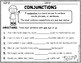 Conjunctions for Beginners Practice Sheets
