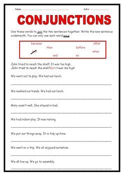 Conjunctions - 3 activities!