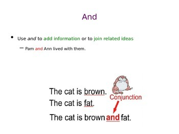 Conjunctions (And, But, Or) PowerPoint Presentation