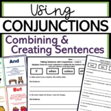 Combining Sentences with Conjunctions (with visuals)