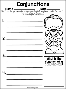 Conjunctions- Complete PRINT and GO lesson!