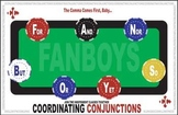 Conjunctions Coordinating Grammar Class Poster - FANBOYS poker table