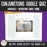 Conjunctions Digital Google Quiz   Distance Learning
