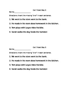 Conjunctions - Flipchart Lessons, Worksheets