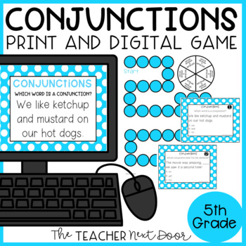 Conjunctions Game | Conjunctions Center | Conjunctions Activity
