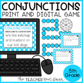 Conjunctions Game Print and Digital Distance Learning