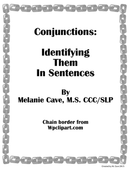 Identify sentence teaching resources teachers pay teachers conjunctions identifying in sentences conjunctions identifying in sentences ccuart Choice Image
