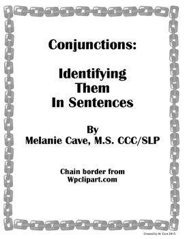 Conjunctions: Identifying in Sentences