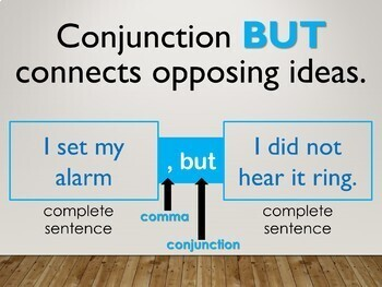 Conjunctions Interactive PowerPoint Lesson