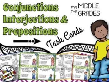 Conjunctions, Interjections, & Prepositions