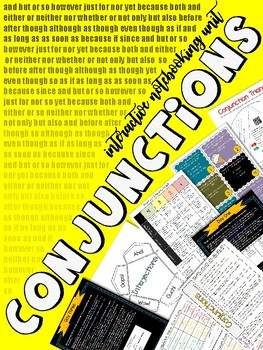 Conjunctions & Interjections: Unit of Study (Interactive Notebooking w/ Test)