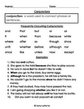 Conjunctions L1.1g