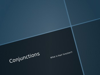 Conjunctions Notes PowerPoint