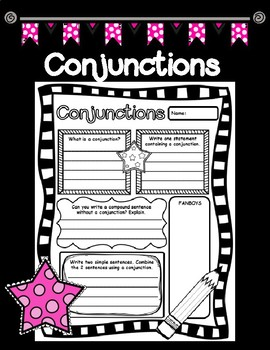 Conjunctions Pair and Share Printable Poster