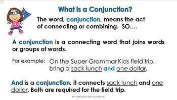 Conjunctions Part 1: Coordinating Conjunctions/CCSS Grade 5