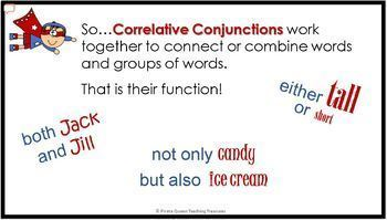 Conjunctions: Part 2 Correlative Conjunctions PPT/CCSS Aligned Grade 5