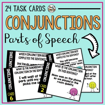 Conjunctions - Parts of Speech Task Cards