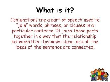 Conjunctions (PowerPoint)