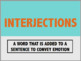 Conjunctions, Prepositions, and Interjections PPT & Notes