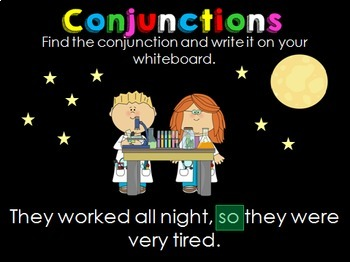 Conjunctions PowerPoint and Printables