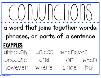 Conjunctions, Prepositions, Interjections