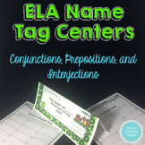 Task Tents™: Conjunctions, Prepositions, Interjections
