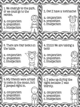 Conjunctions, Prepositions, & Interjections