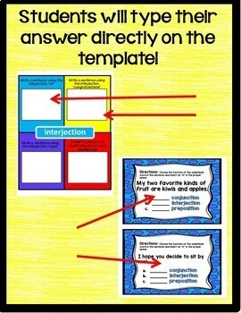 Conjunctions, Prepositions, and Interjections Interactive Notebook Google Drive