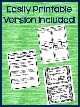Conjunctions, Prepositions, and Interjections Google Drive Activities L.5.1.A