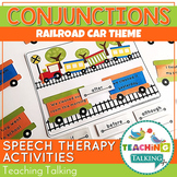 Conjunctions Speech Therapy Activity for Combining Sentences with Conjunctions