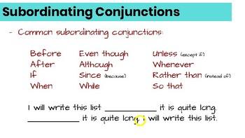 Conjunctions Resource