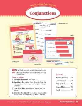 Conjunctions (Take It to Your Seat Centers: Common Core Language)