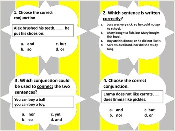 Conjunctions -Task Cards Bundle