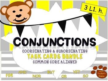 Conjunctions -Task Cards Bundle