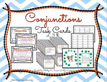 Conjunction Task Cards L.3.1.h