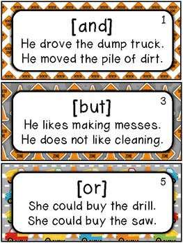 Conjunctions Under Construction: Anchor Charts, Centers, and Printables