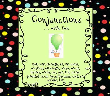 Conjunctions Words List: Learn Grammar with Fun - Common C