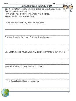 Conjunctions - Worksheets for Grade 2 & 3