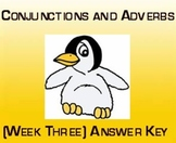 Conjunctions and Adjectives (Week Three) Answer Key